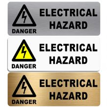 Danger Electrical Hazard-WITH IMAGE-Aluminium Metal Sign-Door,Notice,Shop,Office,Health,Safety